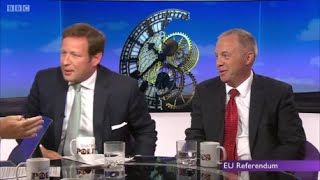 Remainer Ed Vaizey savaged by facts and has no answers against Brexit