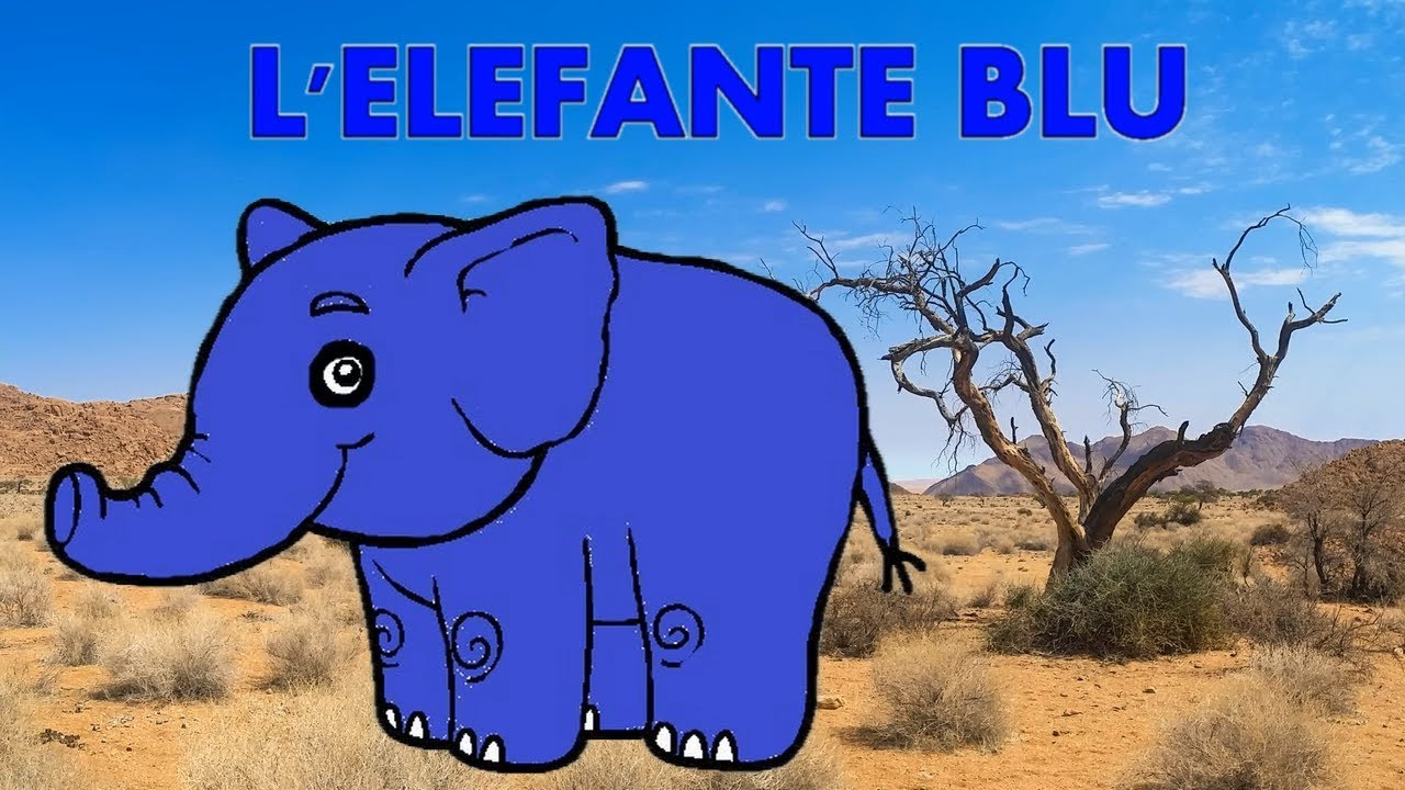 L Elefante Blu Canzone Per Bambini Youtube