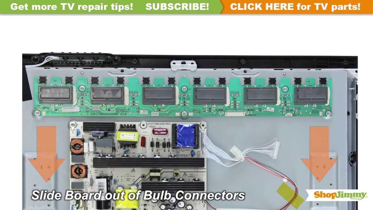 tv backlight inverter board. emerson 126560 backlight inverter boards replacement guide for ltdn42v68us lcd tv repair - youtube tv board n