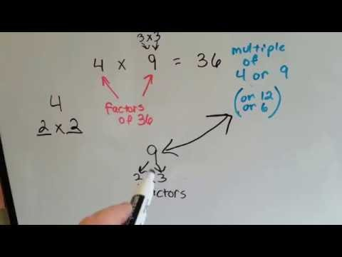 Grade 4 Math #45, What are Factors, What are Multiples