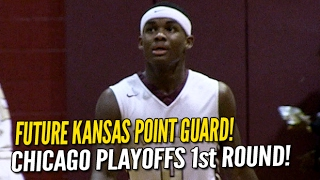 Kansas commit Markese Jacobs leads Chicago Uplift in City Playoffs Round 1!