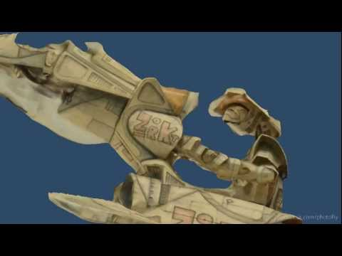 Robot Drone Paper Fighter made in Photofly Autodesk 3D Photo Scan by Chris Kunzmann