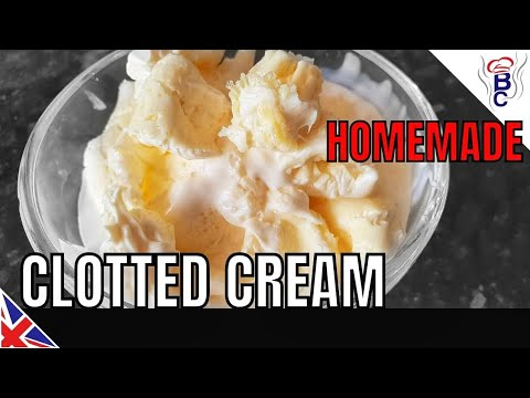 HOW TO MAKE CLOTTED CREAM, Cornish or Devonshire Clotted Cream Cheap Simple Clotted Cream Tutorial