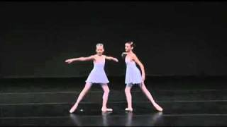 Katia Almayeva, 12 and Gillian Fitz, 11 perform Ocean and Pearls