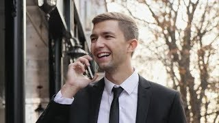 Young Business Man Is Talking on Smart Phone | Videohive Project Templates