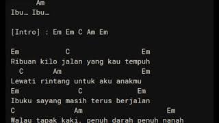 CHORD LIRIK IBU - IWAN FALS