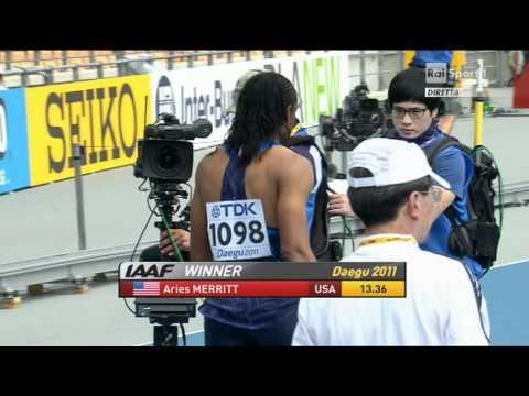 110 Metres Hurdles men heats heat 4 IAAF World Championships Daegu 2011