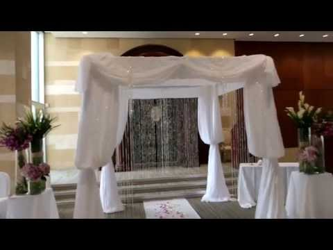 Jewish Wedding Ideas: Chuppah Decorated with Fresh Flowers