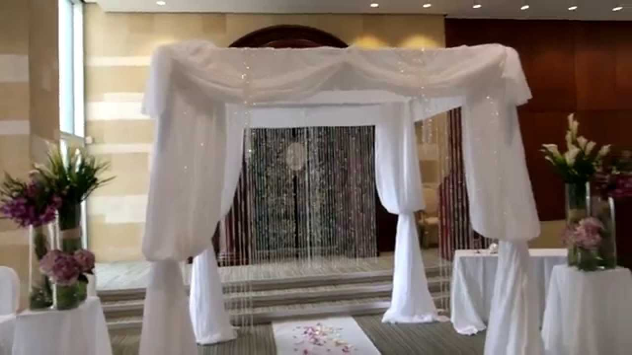 Jewish wedding ideas chuppah decorated with fresh flowers youtube junglespirit Image collections