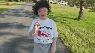 Boy dresses up as Terry Fox to raise thousands for cancer research