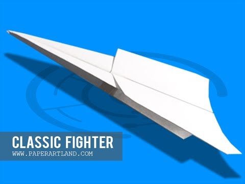 Papercraft Paper Airplane Instructions: How to make a paper plane FLIES 1000000000000 Feet | Classic Fighter