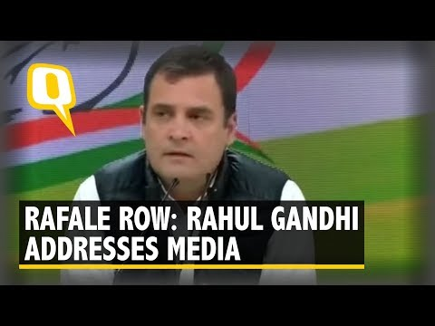 Rafale Row: Congress President Rahul Gandhi Addresses Media