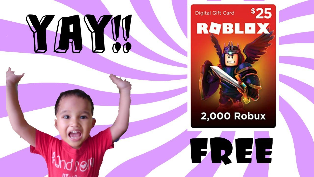 How To Get A Roblox Gift Card For Free No Human Verification