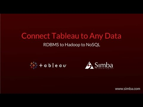 Connect Tableau to Any Big Data Source