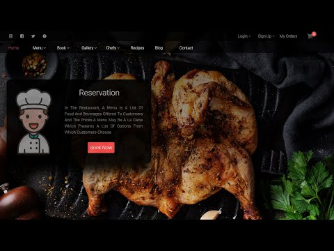 How To Create An Awesome Website For A Restaurant Using HTML & CSS