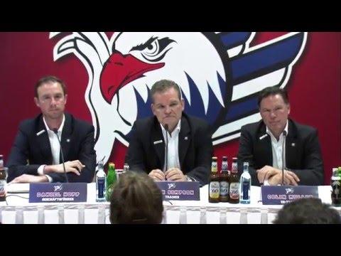 Pressekonferenz: Adler Mannheim stellen Cheftrainer Sean Simpson vor