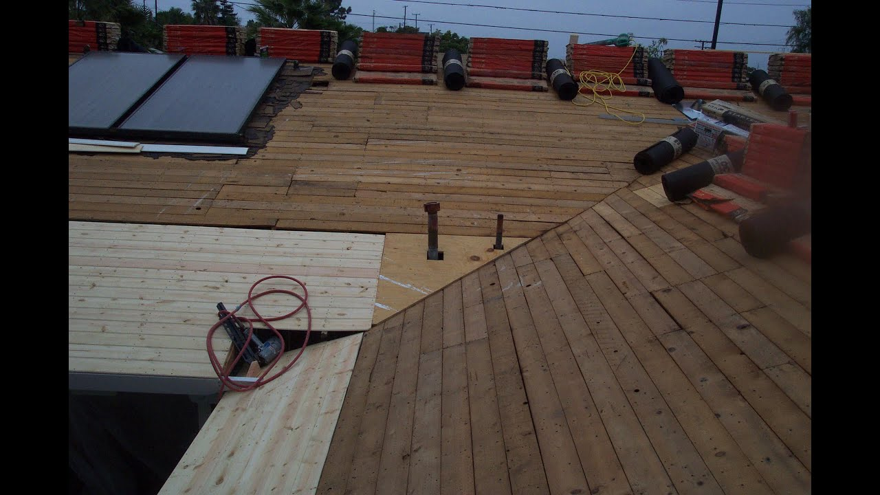 How to install new sheathing over old spaced sheathing for for What to use for roof sheathing