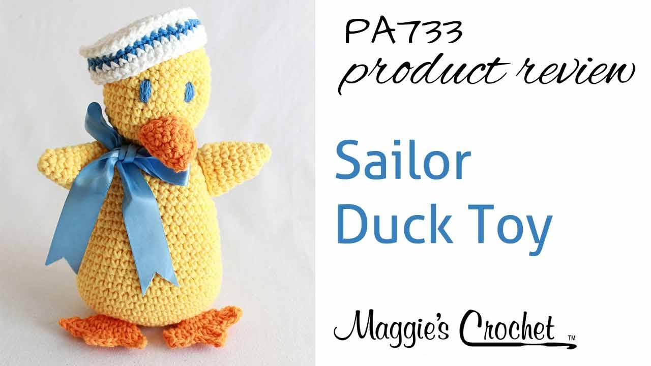 Sailor Duck Toy Crochet Pattern Product Review Pa733 Youtube