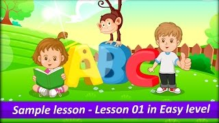 Lesson 01 in Easy level in Monkey Junior - Learn to read individual words and phrases