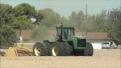 John Deere Tractor at work - Working on the farm in Arizona