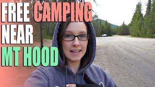 FREE Camping Near Mt Hood - Trillium Lake Airstrip - Campground Review
