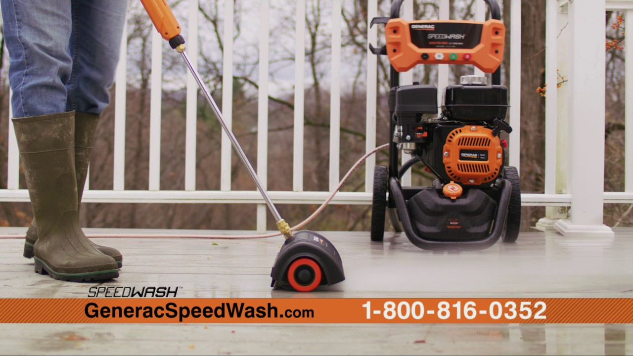 Generac Speedwash Pressure Washer 2 Minute Commercial