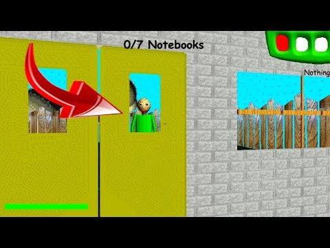 Baldi went out at school.