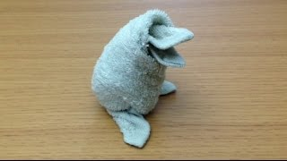 I will show you how to make a baby penguin with a wet towel. If it ...