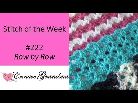 Stitch Of The Week #222 Row By Row Shell Stitch (Special Request) Free Pattern At The End Of Video