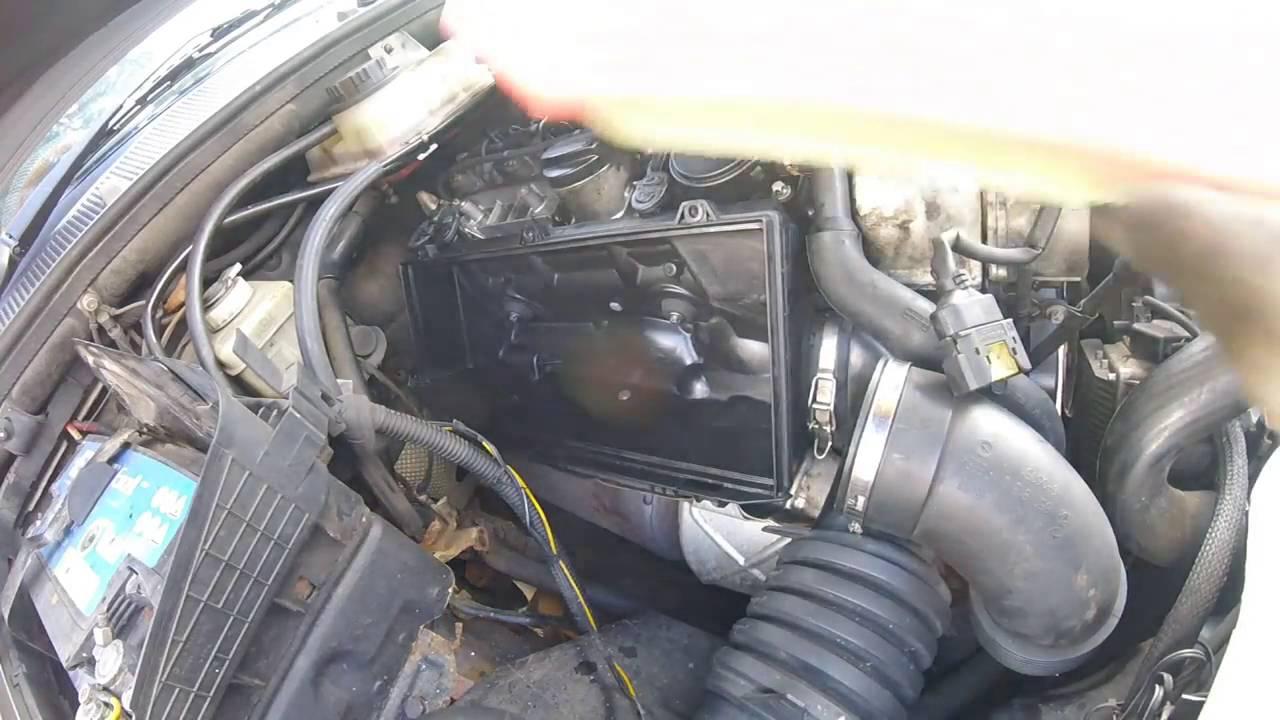 Как поменять воздушный фильтр двигателя мерседес мл 270 cdi