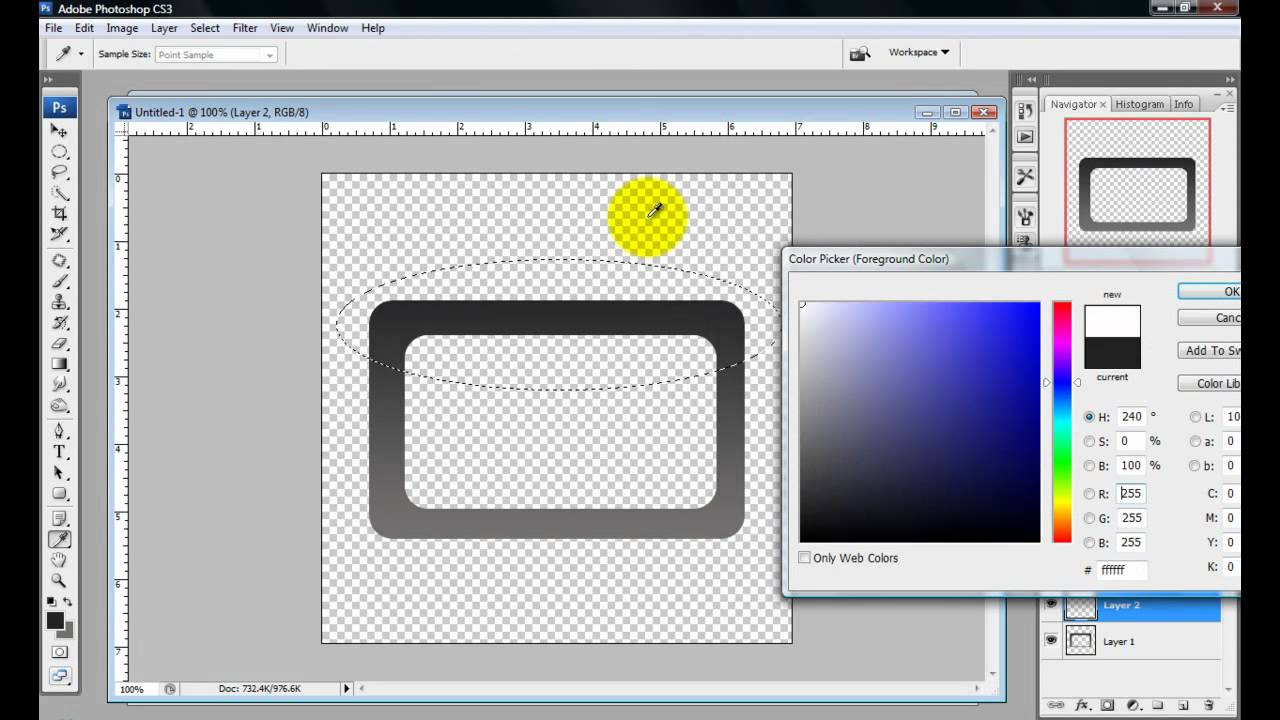 How to make a border rectangle in photoshop
