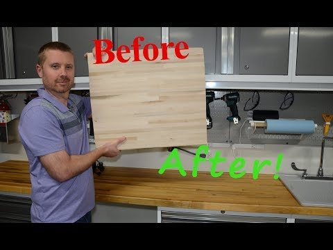 Butcher Block Countertop Finishing And Installing Youtube