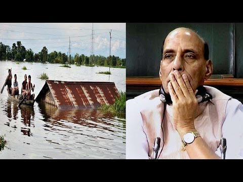 Assam Floods : 21 killed, Rajnath Singh conducts aerial survey| Oneindia News