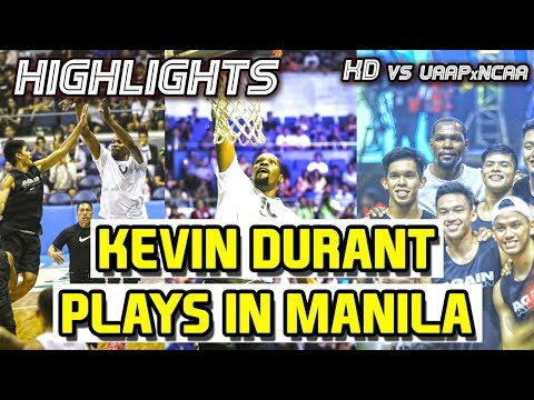 NBA Superstar KEVIN DURANT plays with GILAS CADETS & COLLEGE STARS | KD in Manila 2018 #KDinMNL