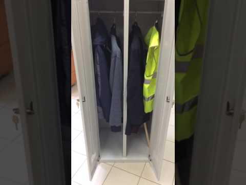 Шкаф для одежды металлический Металлическая мебель для спецодежды