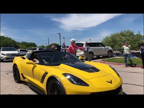 News Around The Lone Star State - FROM KCEN - Allen Samuels dealership presents Corvette to Kim Mulkey