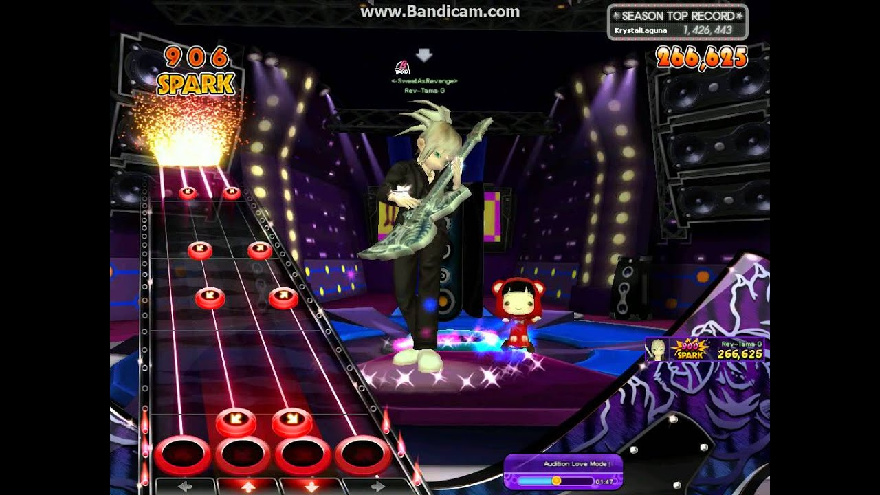 Audition Ayodance Guitar Master Audition - Love Mode level 3 with flame