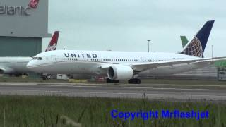 United Airlines 787 Dreamliner - The First Flight from London Heathrow Airport