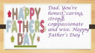 Father's day Greeting Card: Father's days wishes, SMS, greetings, E-card, quotes, Whatsapp Video