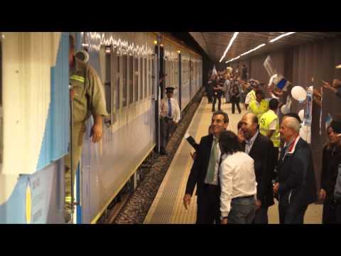 Llegada del primer tren de pasajeros Buenos Aires - Rosario