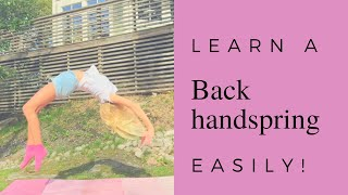 How to get your back handspring easily!