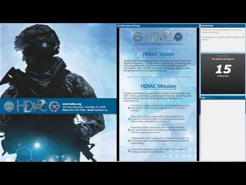 HDIAC SOAR Webinar: Uses of Nanotechnology on Surfaces for Military Applications