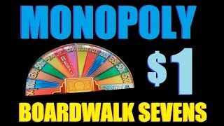 ★ HIGH LIMIT SLOT BIG WIN!! Monopoly Boardwalk Sevens $1 Slot Machine Bonus! ~ WMS