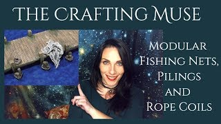 Miniature Fishing Nets, Pilings, and Rope Coils for D&D and TTRPG
