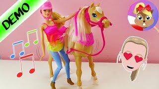 Barbie i tańczący koń   3 tańce do wyboru  unboxing