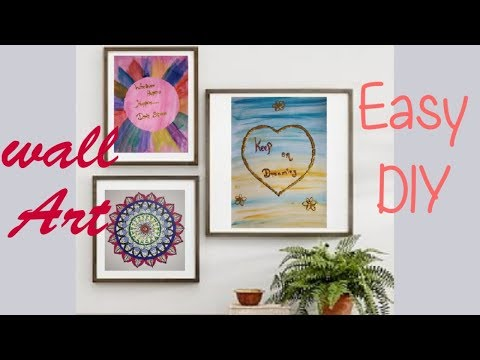 2 Easy wall art and Room decorations ideas || Pinterest art || Tumblr || Art n craft ideas