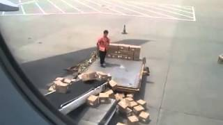 China Southern Air Freight Handlers at Guangzhou Airport   No Care Policy