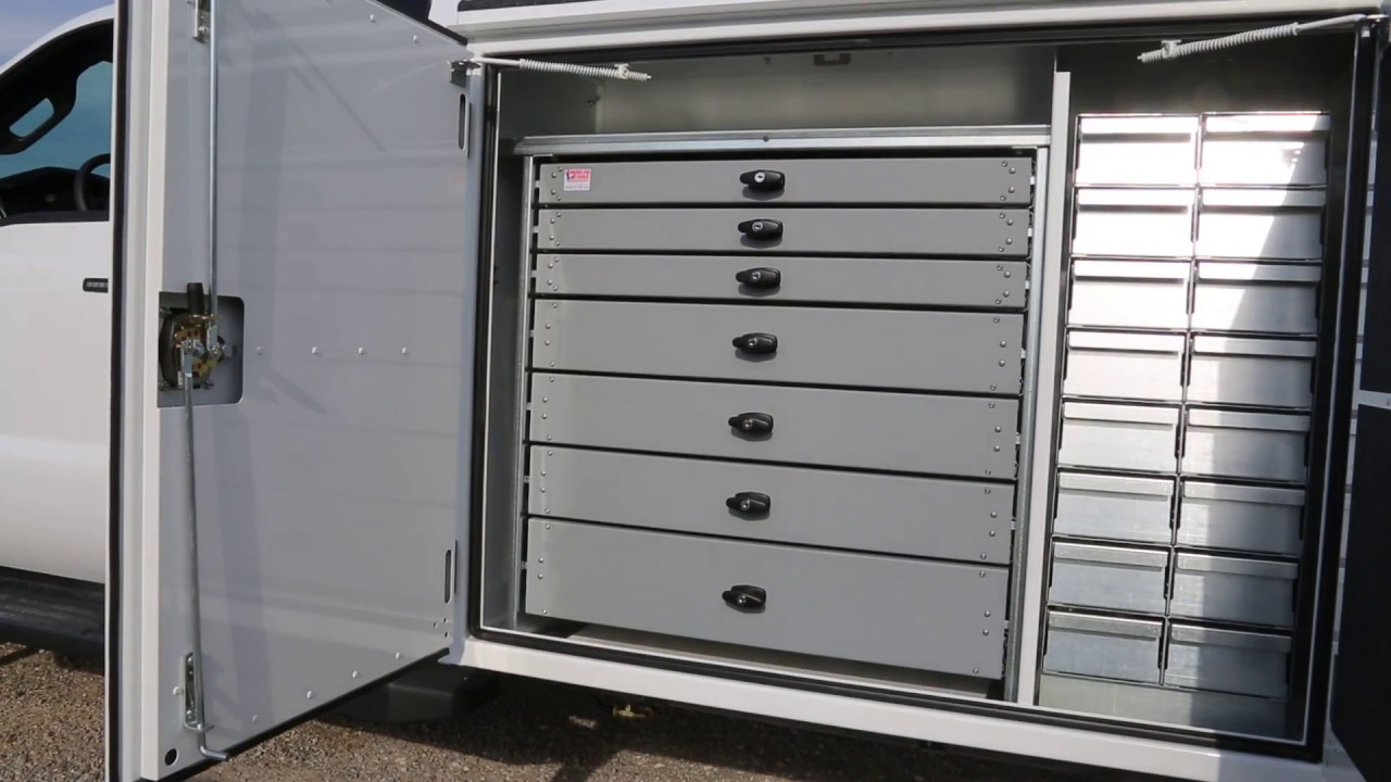 Truck Tool Box With Drawers >> The American Eagle® Heavy-Duty Aluminum Drawer System - YouTube