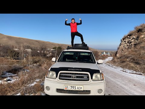 Toyota sequoia , с вечным движком + тест на бездорожье