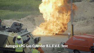 Autogas LPG Gas Cylinder B.L.E.V.E. Test